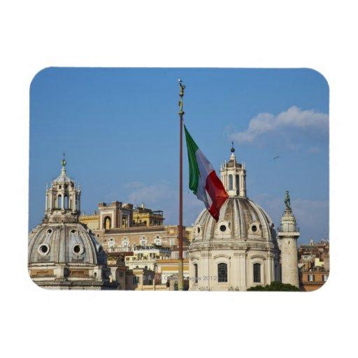 Italia, Roma. Bandera italiana Iman Rectangular
