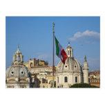 Italia, Roma. Bandera italiana Postal