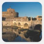 Italia, Roma, Castel Sant'Angelo y río Pegatina Cuadrada