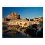 Italia, Roma, Castel Sant'Angelo y río Tarjetas Postales