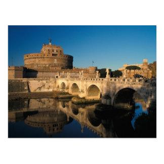 Italia, Roma, Castel Sant'Angelo y río Postal