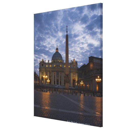 Italia, Roma, Ciudad del Vaticano, la basílica de  Impresiones En Lona Estiradas