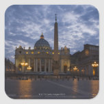 Italia, Roma, Ciudad del Vaticano, la basílica de  Calcomanía Cuadrada Personalizada