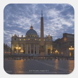 Italia, Roma, Ciudad del Vaticano, la basílica de Pegatina Cuadrada