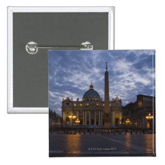 Italia, Roma, Ciudad del Vaticano, la basílica de  Pin Cuadrada 5 Cm