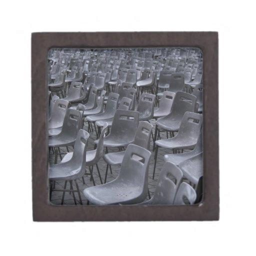Italia, Roma, Ciudad del Vaticano, sillas al aire  Caja De Recuerdo De Calidad