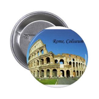 Italia, Roma, coliseo romano (St.K.) Pin Redondo 5 Cm