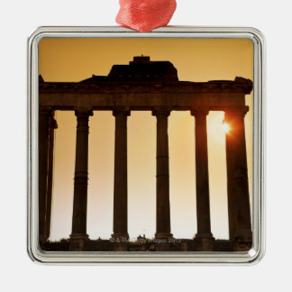 Italia, Roma, foro romano, templo de Saturn Ornaments Para Arbol De Navidad