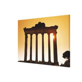 Italia, Roma, foro romano, templo de Saturn Impresiones En Lona