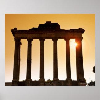 Italia, Roma, foro romano, templo de Saturn Impresiones
