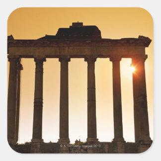 Italia, Roma, foro romano, templo de Saturn Pegatina Cuadrada