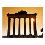 Italia, Roma, foro romano, templo de Saturn Tarjetas Postales