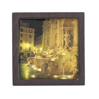 Italia, Roma. Fuente del Trevi en la noche Caja De Regalo De Calidad