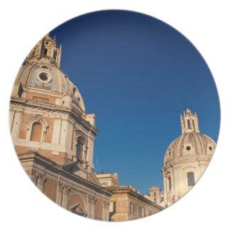 Italia Roma iglesia de Santa María di Loreto y Plato