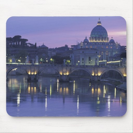 Italia, Roma San Pedro y Ponte Sant Ángel, Mouse Pad