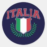 Italia Round Stickers