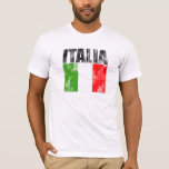 Italia se descoloró camiseta del estilo