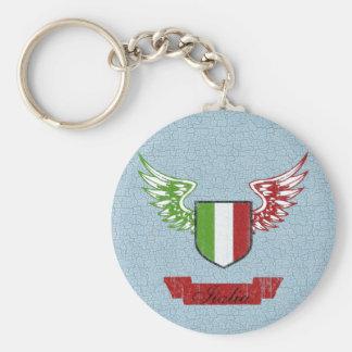 Italia se fue volando la bandera del vintage llavero redondo tipo pin