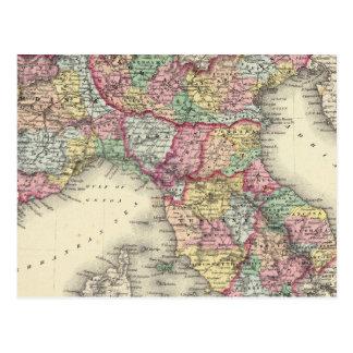 Italia septentrional tarjeta postal