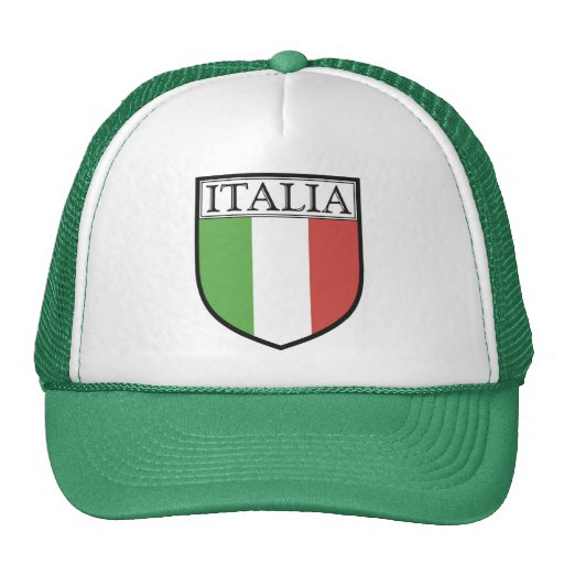 Italia Shield Hat / Italy Flag Cap