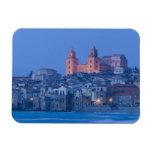 Italia, Sicilia, Cefalu, visión con el Duomo de Imanes De Vinilo