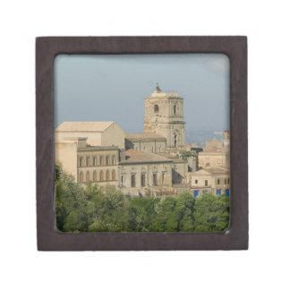 Italia, Sicilia, Enna, opinión de la ciudad de los Caja De Joyas De Calidad