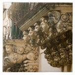 ITALIA, Sicilia, NOTO: La ciudad barroca más fina  Azulejo Cuadrado Grande