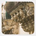 ITALIA, Sicilia, NOTO: La ciudad barroca más fina Pegatina Cuadrada