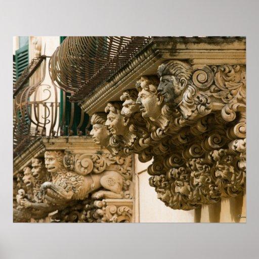 ITALIA, Sicilia, NOTO: La ciudad barroca más fina  Póster