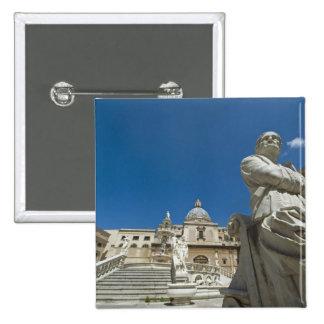 Italia, Sicilia, Palermo, fuente con el busto y Pin Cuadrada 5 Cm