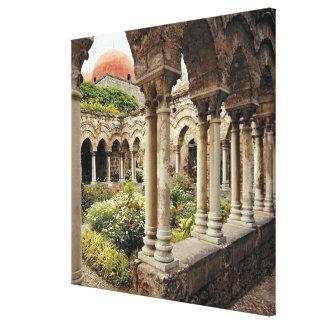 Italia, Sicilia, Palermo. Los claustros sobreviven Lona Estirada Galerias