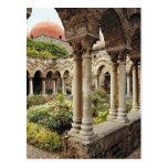 Italia, Sicilia, Palermo. Los claustros sobreviven Tarjeta Postal