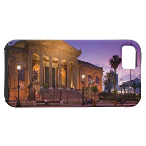 Italia, Sicilia, Palermo, ópera de Teatro Máximo iPhone 5 Funda