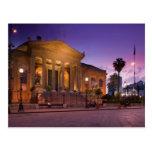 Italia, Sicilia, Palermo, ópera de Teatro Máximo Postal