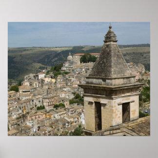 ITALIA, Sicilia, RAGUSA IBLA: Opinión y Santa de l Póster