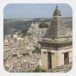 ITALIA, Sicilia, RAGUSA IBLA: Opinión y Santa de Pegatina Cuadrada