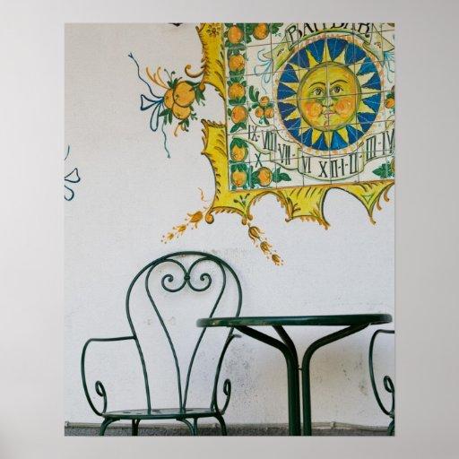 ITALIA, Sicilia, TAORMINA: Bam, detalle del café d Póster