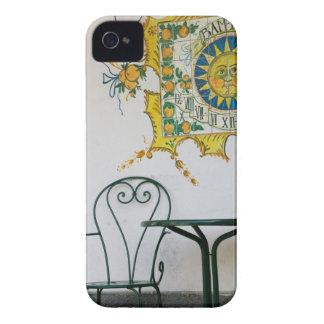 ITALIA, Sicilia, TAORMINA: Bam, detalle del café iPhone 4 Case-Mate Carcasa