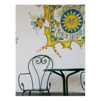 ITALIA, Sicilia, TAORMINA: Bam, detalle del café Tarjeta Postal