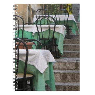 ITALIA, Sicilia, TAORMINA: Corso Umberto 1, café Cuadernos