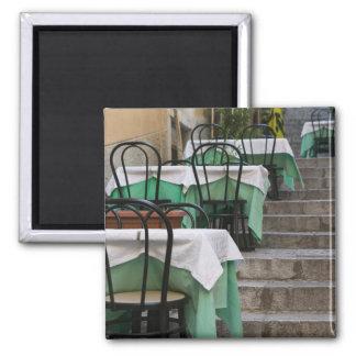 ITALIA, Sicilia, TAORMINA: Corso Umberto 1, café Imán Cuadrado