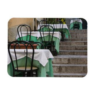 ITALIA, Sicilia, TAORMINA: Corso Umberto 1, café Imanes De Vinilo