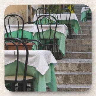ITALIA, Sicilia, TAORMINA: Corso Umberto 1, café Posavasos
