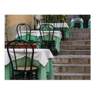 ITALIA, Sicilia, TAORMINA: Corso Umberto 1, café Postales