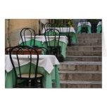 ITALIA, Sicilia, TAORMINA: Corso Umberto 1, café Tarjeta