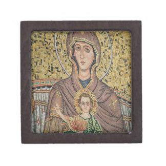 ITALIA, Sicilia, TAORMINA: Corso Umberto 1, mosaic Caja De Joyas De Calidad