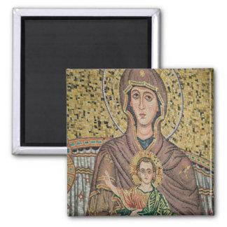 ITALIA, Sicilia, TAORMINA: Corso Umberto 1, mosaic Imán Cuadrado