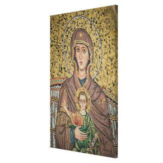 ITALIA, Sicilia, TAORMINA: Corso Umberto 1, mosaic Impresión En Lona Estirada