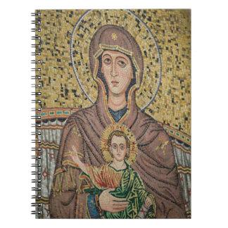 ITALIA, Sicilia, TAORMINA: Corso Umberto 1, mosaic Libros De Apuntes