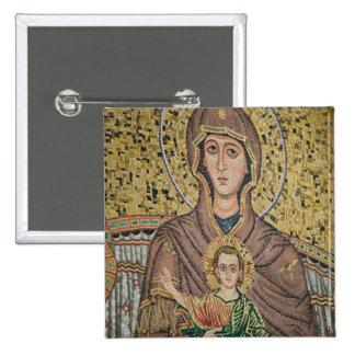 ITALIA, Sicilia, TAORMINA: Corso Umberto 1, mosaic Pin Cuadrada 5 Cm